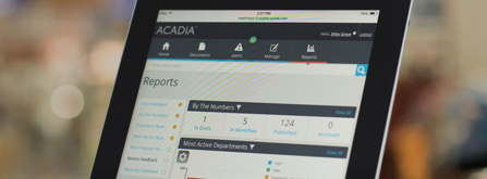 tablet view of acadia in use