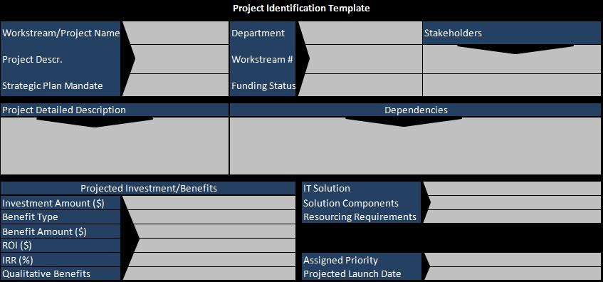 project identification template